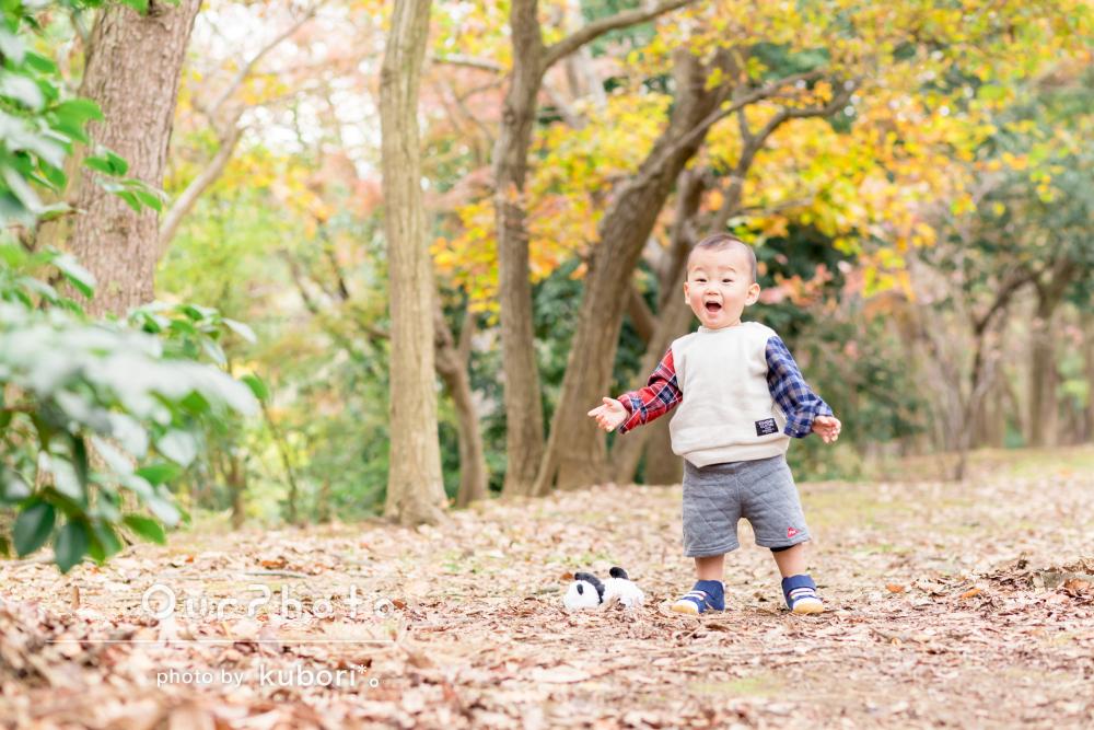 「イメージ通りの柔らかな写真」公園で家族写真の撮影