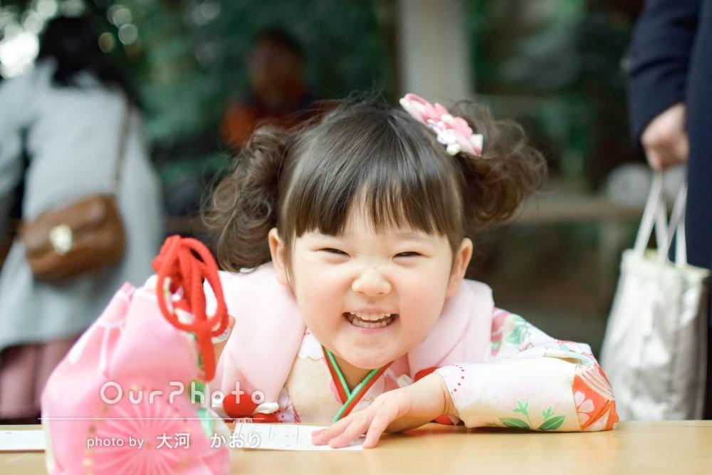 「人見知りの娘がとても楽しそうに笑って」七五三とお宮参りの撮影