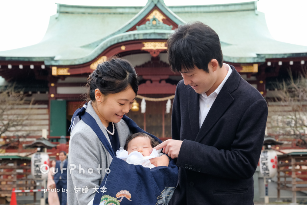 「楽しい時間」「家族の良い思い出」お宮参りの出張撮影