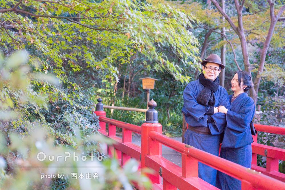 「結婚10周年に式を挙げた場所で」夫婦で和装して結婚記念日に写真撮影