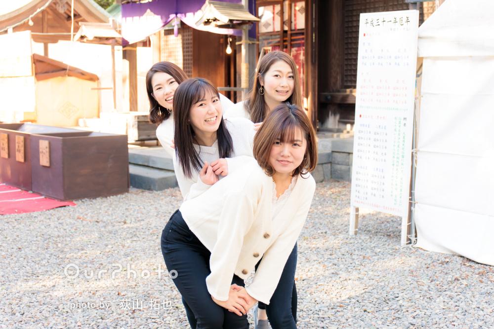 25歳記念!街散策しながら大学時代の友人との写真撮影