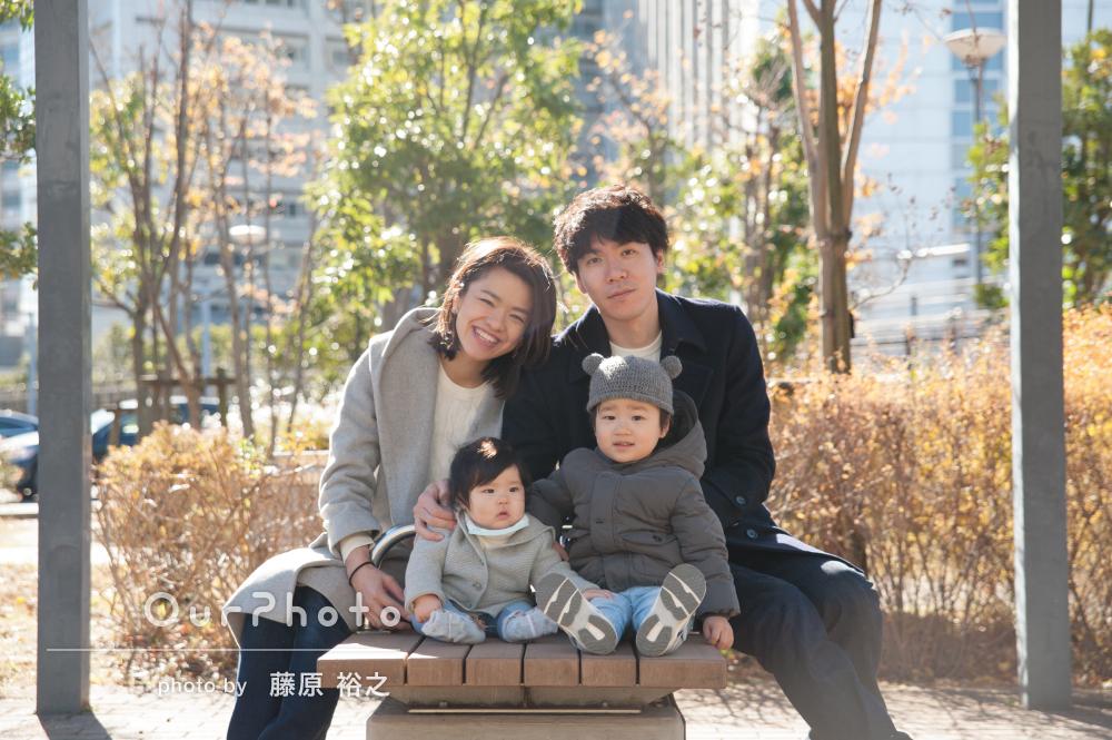 「息子の心をつかんでいました」家族写真の撮影