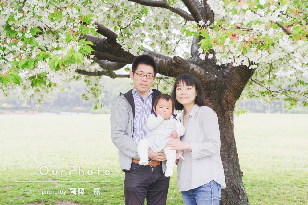 「当日の撮影日のできごとを含め、素晴らしい思い出の写真となりました。」家族写真の撮影