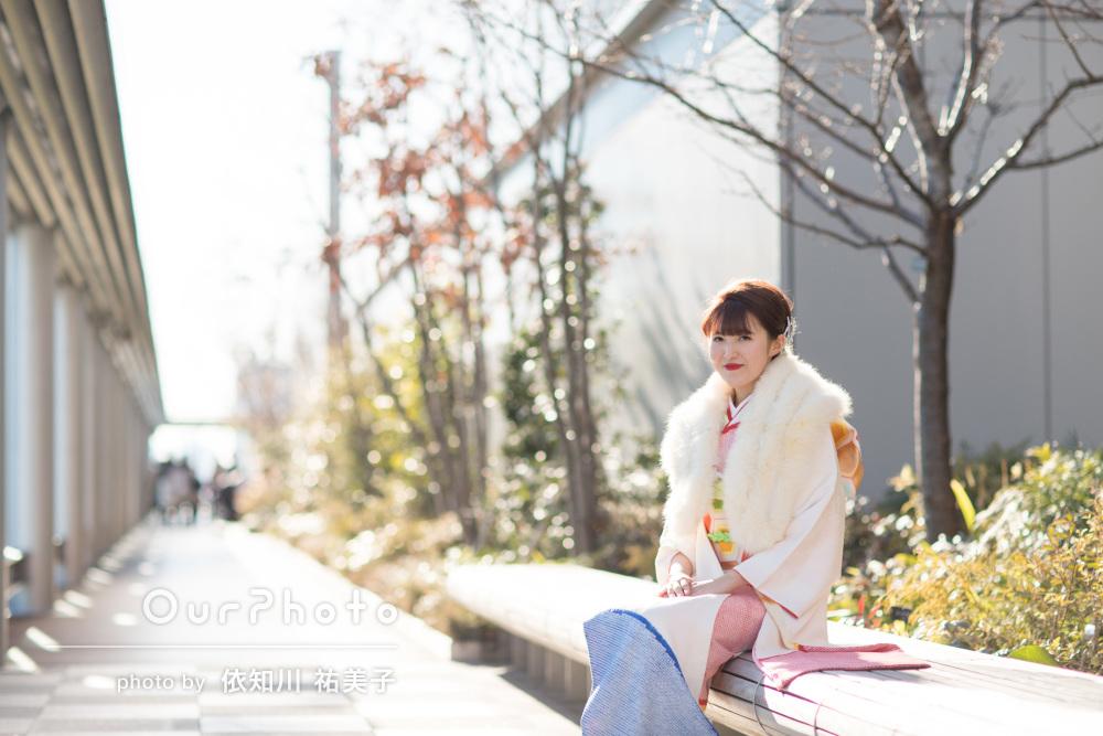 成人式当日に前撮りリベンジ!「とても綺麗で感動」街中での記念写真撮影