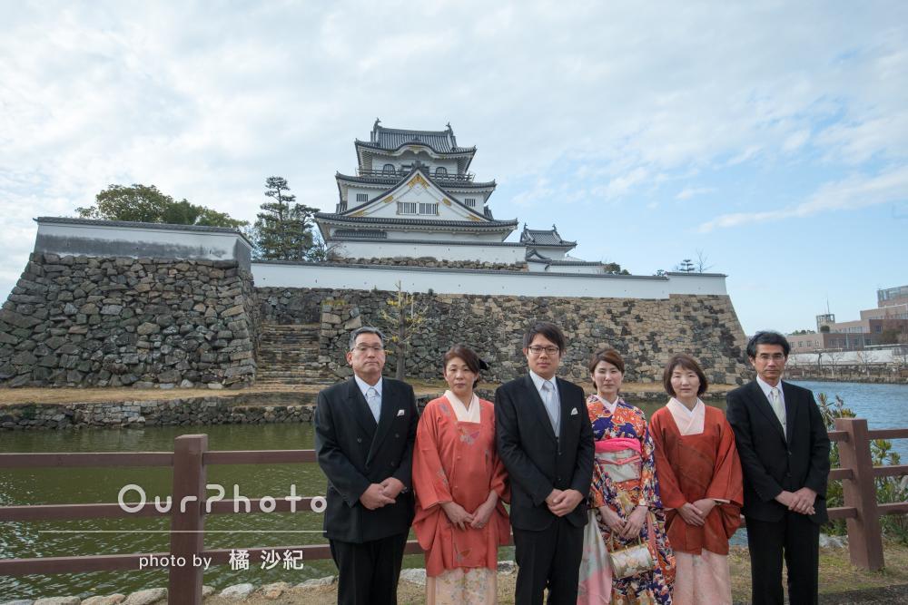 「一生大切にできる写真を」結納を記念した家族写真の撮影