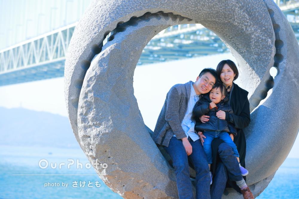 3歳の誕生日記念に!ロケーションを生かした家族写真の出張撮影