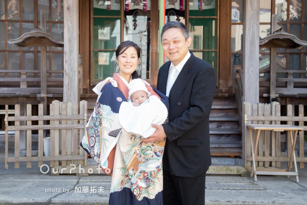 神社とご自宅で!「良い思い出になる」お宮参りの記念撮影