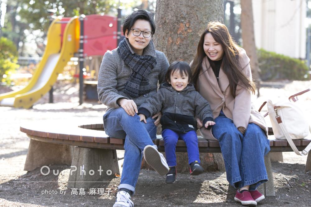 「リクエスト通り自然な雰囲気」楽しい時間の家族写真の撮影