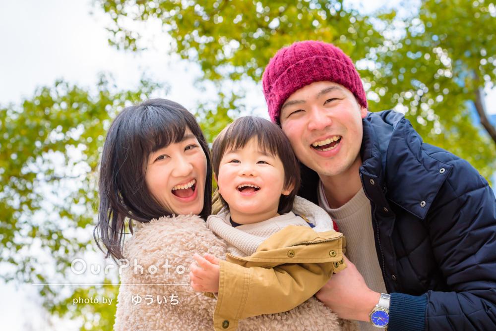「家族3人の写真はほとんどないのでとても嬉しい」お誕生日記念の家族写真