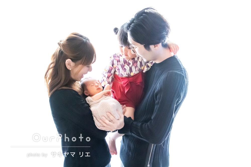 「可愛い写真をたくさん」自宅で!ニューボーンフォトと家族写真の撮影