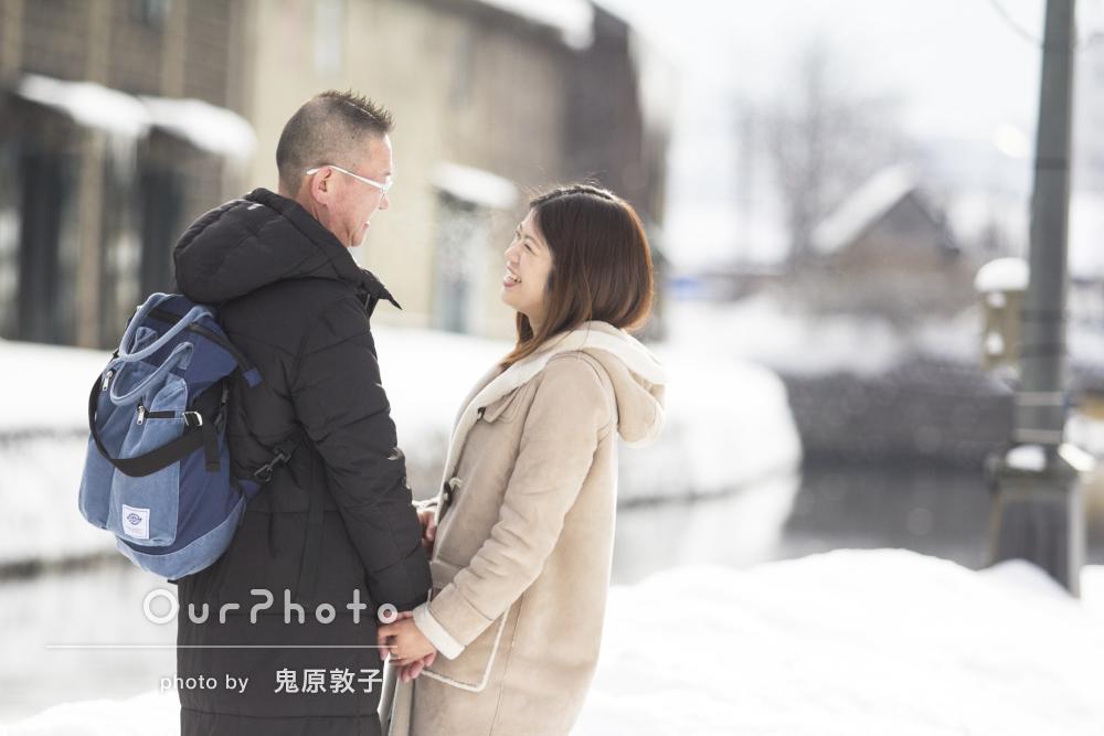 友人から撮影のプレゼント!北海道で夫婦の記念撮影