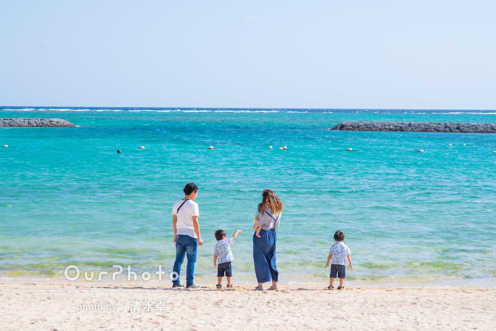 沖縄の離島へ家族旅行!ロケーションを生かした記念写真の撮影