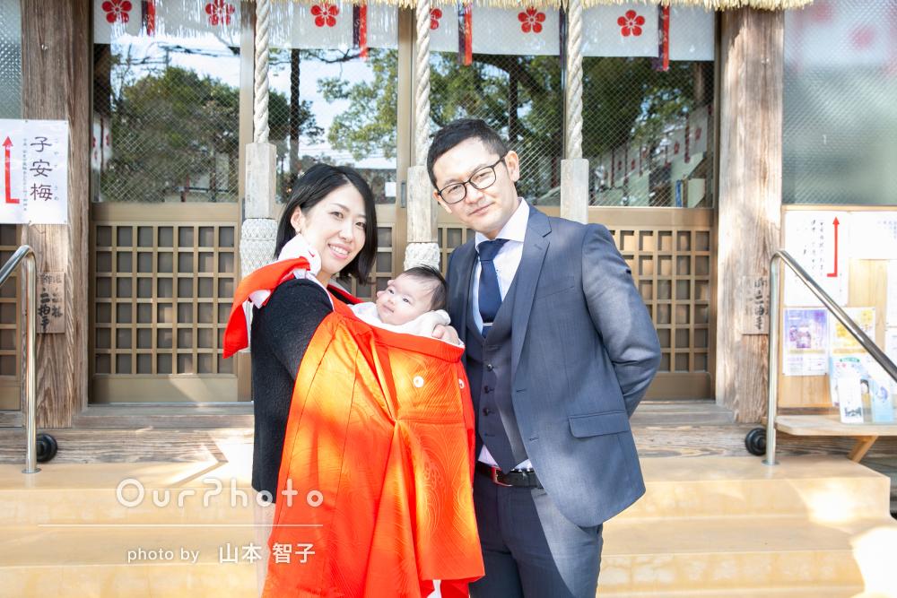 「両親も大変喜んで」自宅と神社でのお宮参り写真撮影