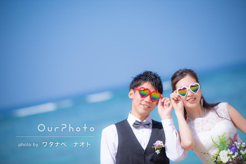 「落ち着いた感じから、楽しい写真まで」沖縄での結婚式の前撮り