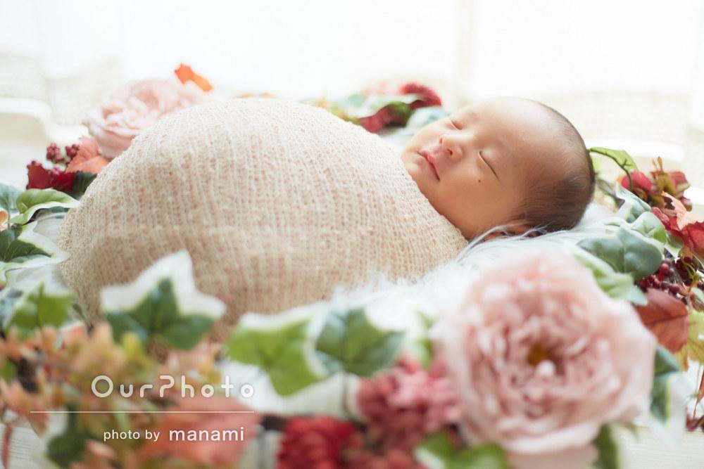 「赤ちゃんの扱いも優しかったです」ニューボーンフォトの撮影