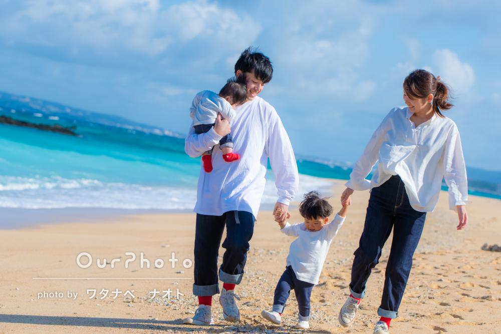 「ゆっくり撮影できて満足です」沖縄で家族写真の撮影
