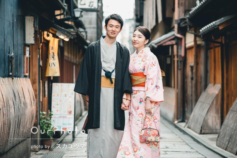 上品でどこか懐かしい。京都の和装エンゲージメントフォト