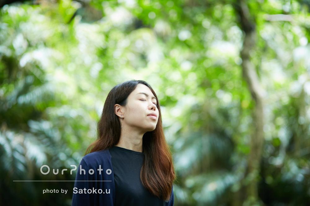 沖縄の離島で雄大なプロフィール写真の撮影