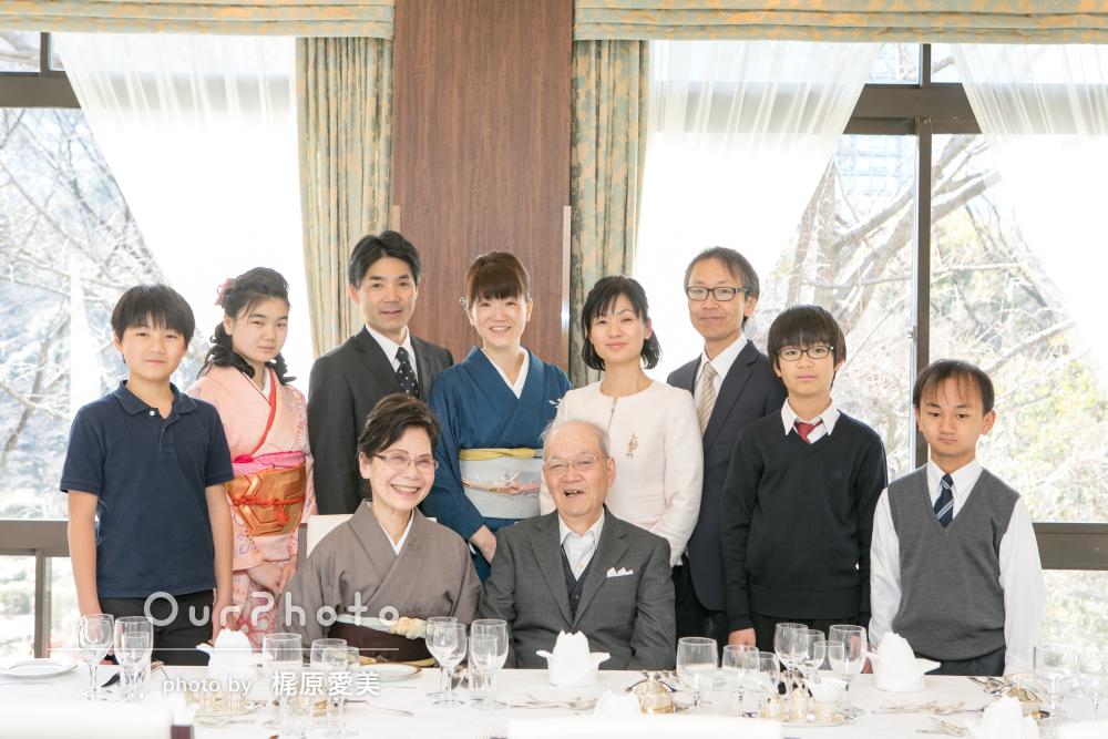 「素敵な構図で驚きの出来栄えでした」金婚式記念に家族写真の撮影