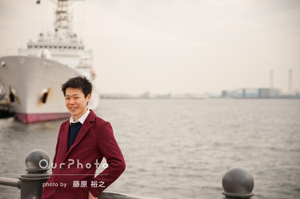 「写真が好きになりました」港町でプロフィール写真の撮影