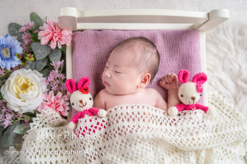 今しか残せない赤ちゃんの姿を!ニューボーンフォトの撮影
