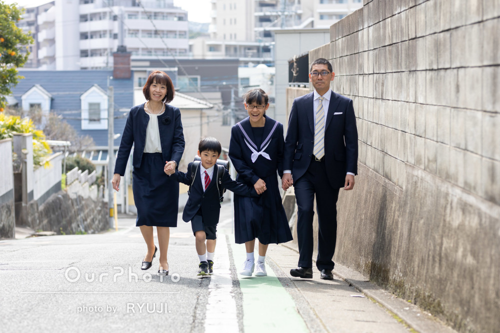 「とても素敵な写真ばかりで感動しました」卒業と入学記念の家族写真