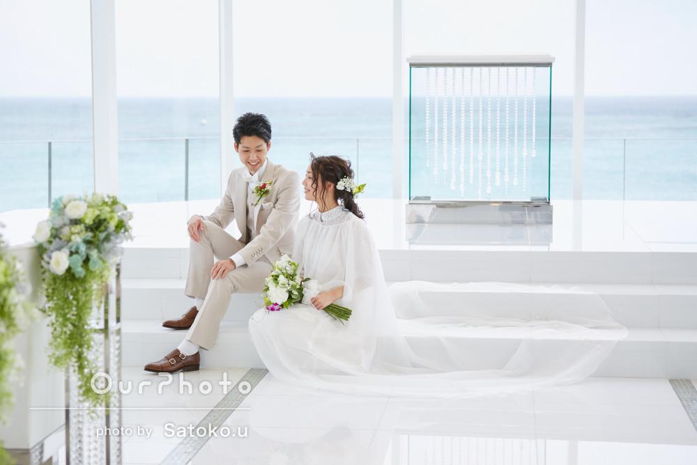 沖縄の教会での結婚式を撮影!チャペルでの挙式から披露宴まで密着