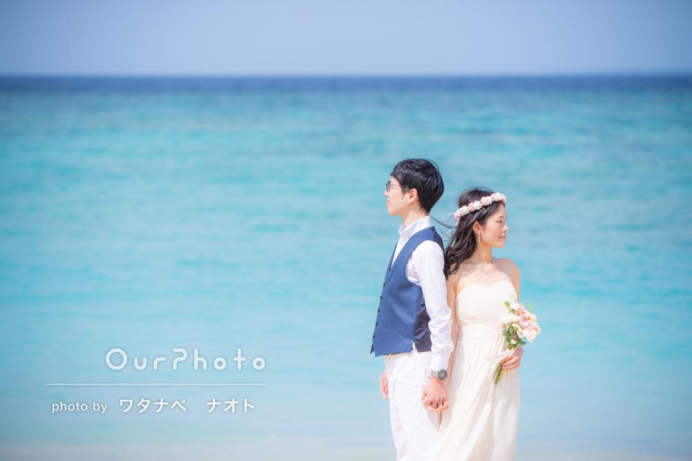 「イメージ通り自然」沖縄でウェディングフォト撮影