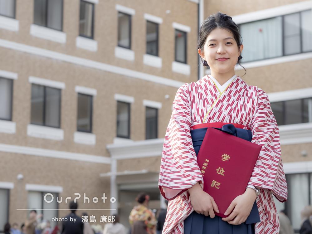 大学の卒業式に!思い出に残るキャンパスで卒業記念写真を撮影