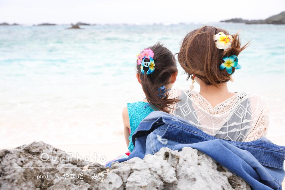 宮古島に母と娘で2人旅行!沖縄の海をバックに親子フォト