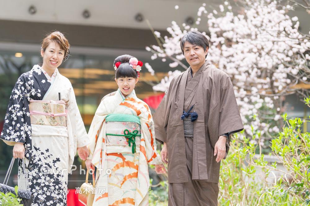 1/2成人式の記念に!和服で楽しい家族写真の撮影