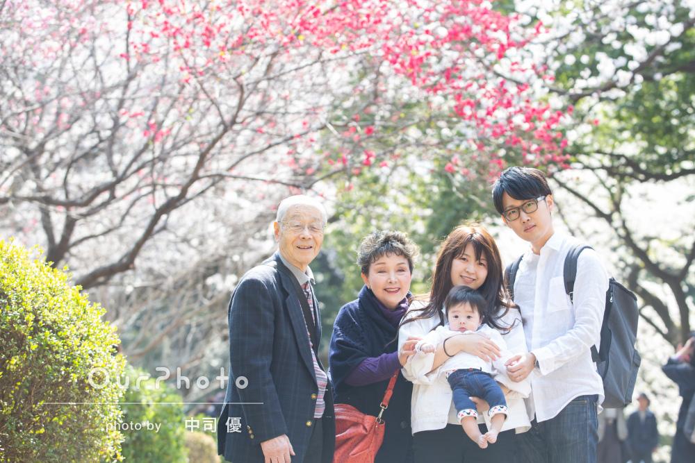 「1歳の撮影もぜひお願いしたい」桜咲く春のハーフバースデイの撮影