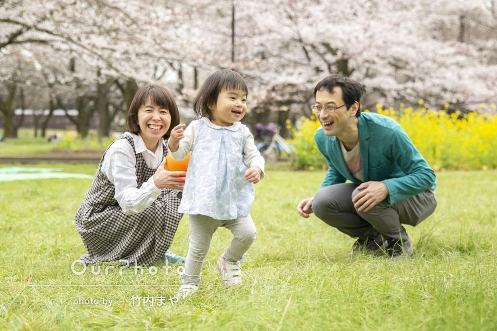 一瞬を逃さずたくさんの生き生きした表情を切り取る家族写真の撮影