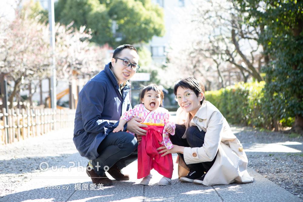 「娘の一瞬の笑顔を引き出す工夫をしてくださいました」家族写真の撮影