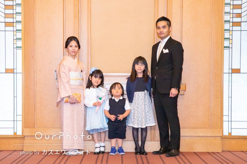 「撮影現場の下見をされている事が良く分かりました」家族写真の撮影