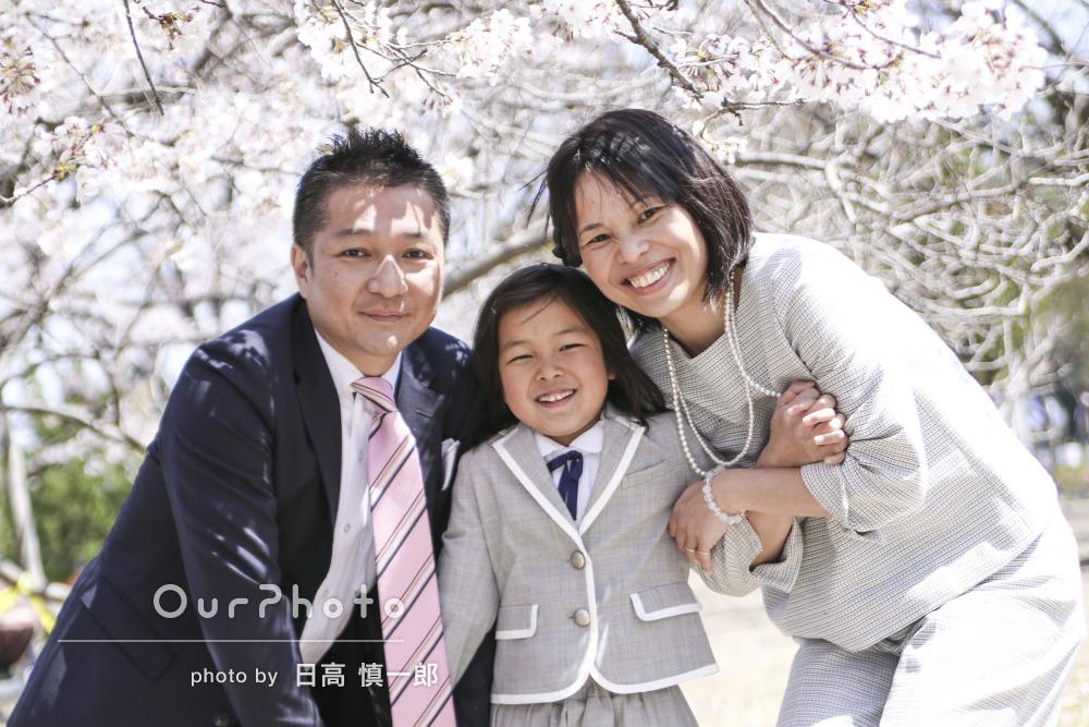 「理想通りの写真を撮っていただき大満足です」入学記念の写真撮影