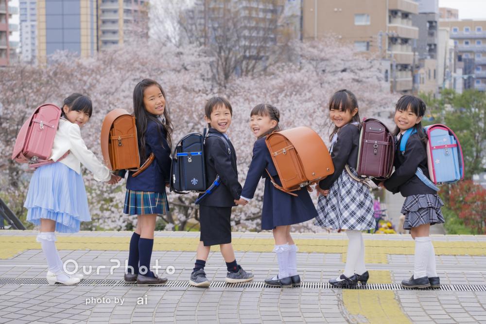 「幼稚園卒園&小学校入学記念の撮影をしていただきました」春の友フォト