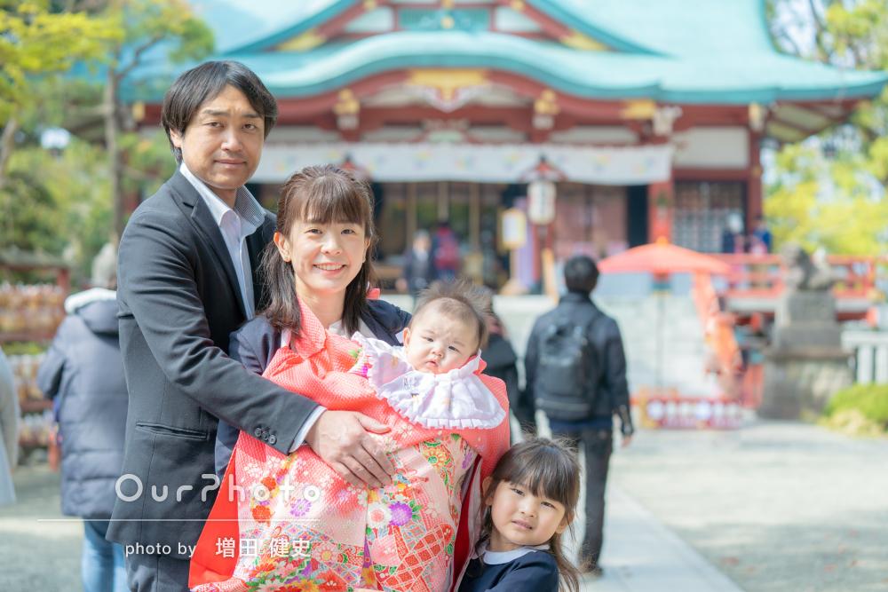 「家族の思い出になりました!」春のお宮参りの撮影