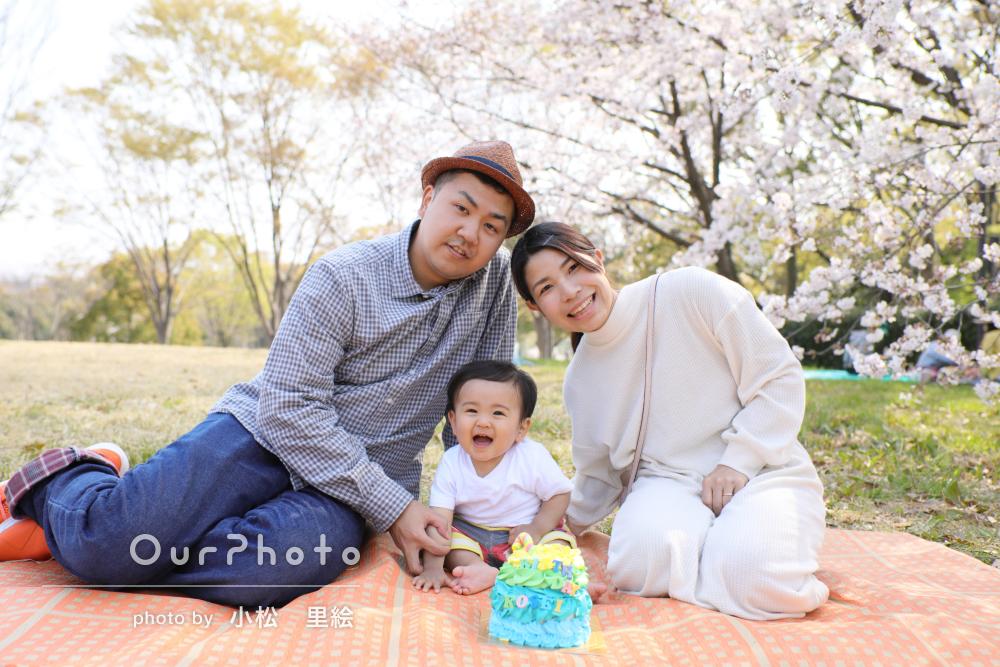 「1日楽しい撮影の時間」誕生日記念の家族写真撮影