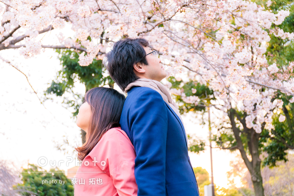 「夫婦共々気に入っており、大満足です!」入籍記念のカップル写真の撮影