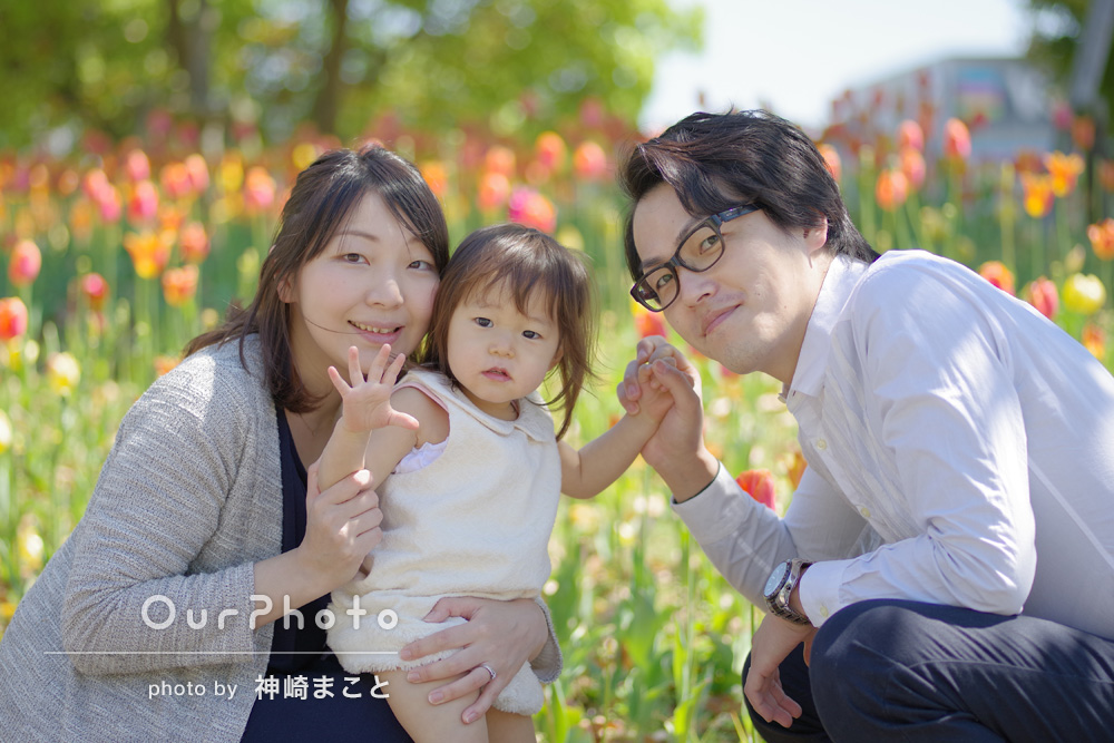 「たくさんいろんな写真を撮影していただけました。」家族写真の撮影