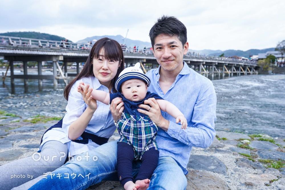 「トントンと希望以上の写真を次々!」春の嵐山で家族写真の撮影
