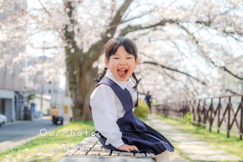春爛漫!笑顔と桜がキラキラ輝く素敵な入園記念写真の撮影