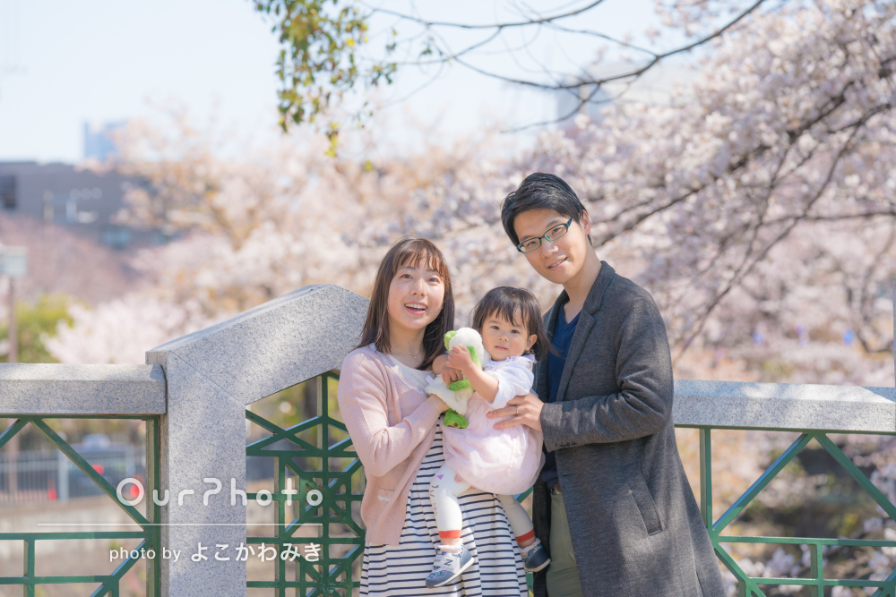 「綺麗な写真を撮っていただき興奮が冷めやりません」家族写真の撮影