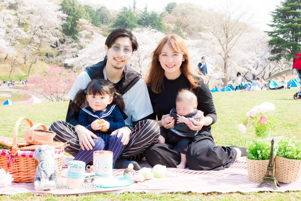 「上手にあやしてくださり楽しく撮影できました」家族写真の撮影