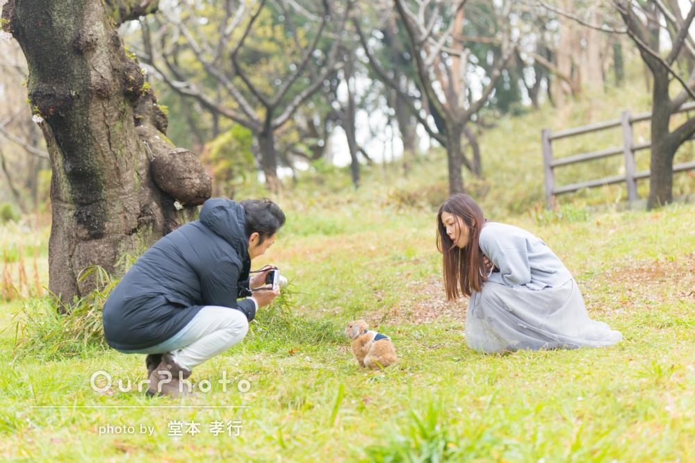 「バリエーション豊かな撮影ができました」うさちゃんと家族写真の撮影