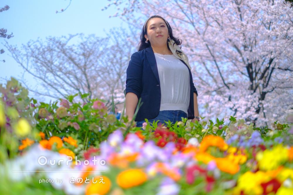 さわやかさいっぱい!春のプロフィール写真の撮影