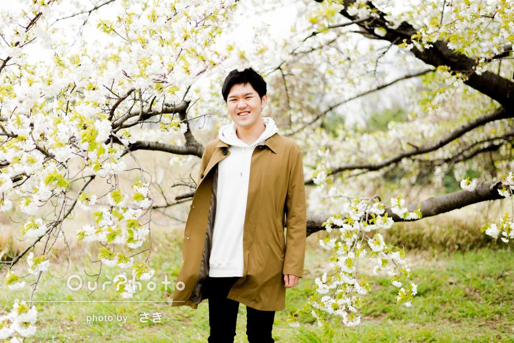 自然な笑顔で魅力伝わる、温かい雰囲気のプロフィール写真の撮影