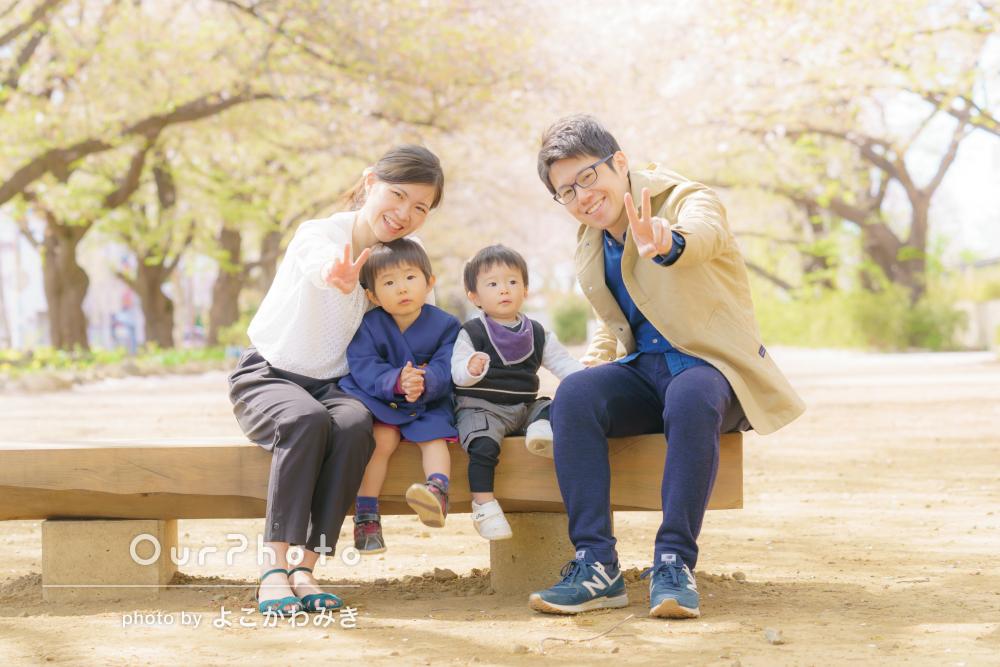 入念な下見でスムーズな撮影!幼稚園入園記念に家族写真