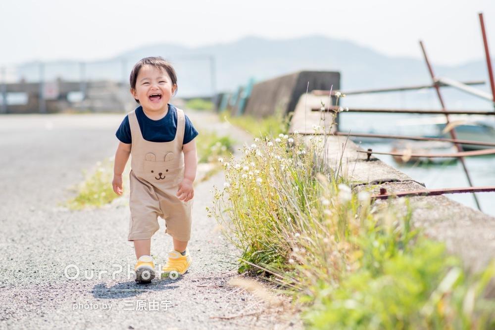 「子供がニコニコ笑っていて、良い表情の写真ばかり」家族写真の撮影